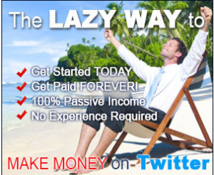 shows how to make more money on twitter the lazy way